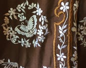 Vtg Ethnic Embroidered Butterfly Blouse