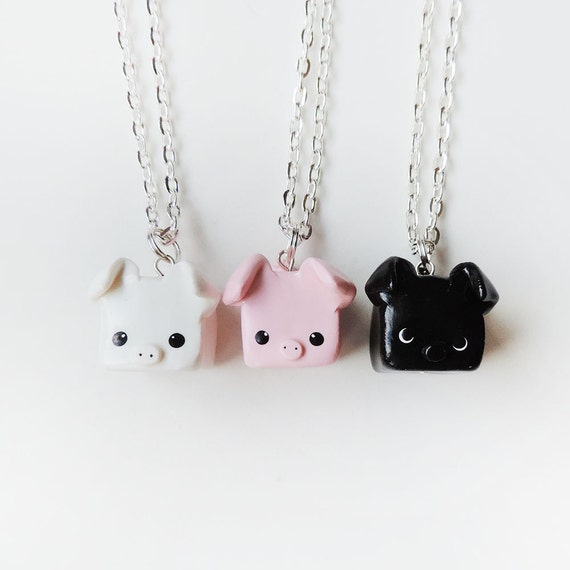 Special Three Little Pigs Best Friend Necklace Set of 3