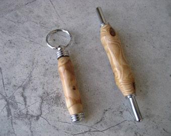 Double Blade Seam Ripper/Needle Case Combo    (Peach Wood)