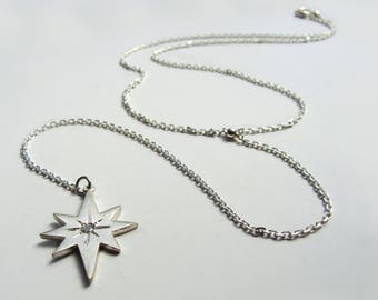 StarStruck Lariet necklace in sterling, sapphire