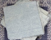 25 Denim Fabric Squares 7 1/2 x 7 1/2 for Rag Quilt Rag Rug Fabric Block Scraps for Crafting Projects