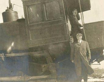 vintage photo 1915 Tennessee Pass Railroad Car Engineer Man