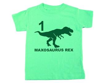 Dinosaur Shirt, Custom Name Shirt, Dinosaur Birthday, Dinosaur Party, Dinosaur Kids, Dinosaur Baby, Dinosaur T-Shirt, Tyrannosaurus-Rex