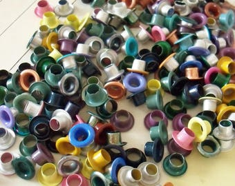 Metal Eyelets / About 200 Items / Variety of Colors