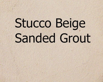 Subtle STUCCO BEIGE 1 Pound Mosaic Tile Grout Neutral Tan Sanded Polymer Fortified for Home Projects Just Add Water - Actual Sample Shown