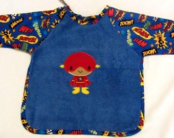 Baby Flash Sleeved Bib, Size 6 Months - 2T