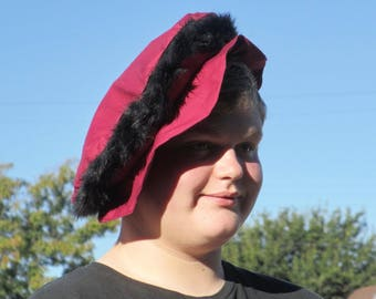 Medieval Renassaince slouch hat floppy cap