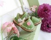 Mini Green Leather Mary Jane Shoes Neo Blythe Size M Azone Pure Neemo Lati Yellow Nikki Britt Tinies Ellemeno Ellabella