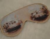 Freak Them Out Sleep Mask MERMAID * FreakyOldWoman FOW blindfold fish scales sequins sleeping beauty