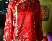 Amazing 1970's/80's asian lightweight jacket. Size womens M
