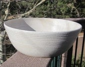 RESERVED for J Weston - Large Serving Bowl in White - Handmade Pottery