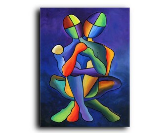 Figurative Fine Art Prints and Gallery Canvas People Couples Men Women Love Interior Design Home decor Elena
