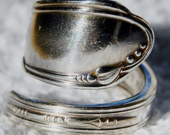 Silver Spoon Ring, Size 7 to 11