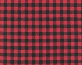 Andie Hanna's Burly Beavers Flannel Plaid  on Cardinal Red for Robert Kaufman Fabrics - FLANNEL- Yard