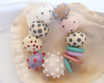 12 Handmade Lampwork Beads
