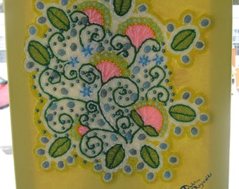 Wall Art, Bead embroidered painting