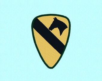 U.S. Army First Cavalry Division machine embroidery design