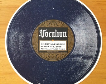 VOCALION 78 Record Circle Poster for Knoxville Stomp Hand Printed Letterpress vinyl lp record collectors sign vintage nostalgia