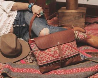 Boho Crossbody, Kilim Bag, Moroccan Bag, Ready to Ship, Boho Chic Bag, Leather Fringe Bag, Leather Crossbody, Boho Laptop Bag