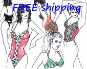 FREE Ship Pattern PBH30 for PUSH-UP Bra Bustier Body by Merckwaerdigh