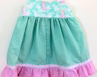 Bunny Queen Knot Dress, Girls dress, toddler dress, birthday dress, summer dress, spring dress, knot dress