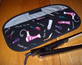 Curling Iron Case / Flat Iron Cover / For Travel Or The Gym / Insulated / Beauty Shop Hair Tools
