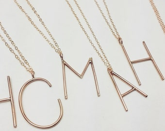 Block it up Uppercase initial necklace