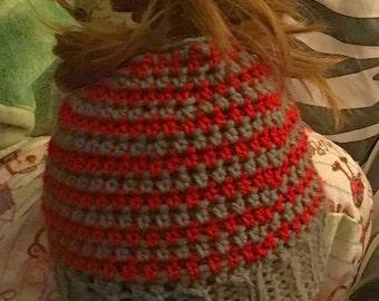 Messy Bun Hat Ponytail Beanie
