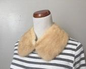 Lovely Vintage Blonde Fur Peter Pan Collar.
