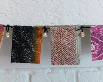 KANTHA QUILT Bunting Boho Prayer Flags