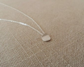 Sterling Silver Handmade small circle Necklace