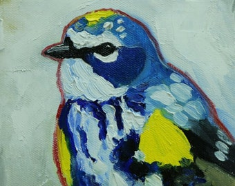 Bird painting 272 6x6 inch portrait original oil painting by Roz