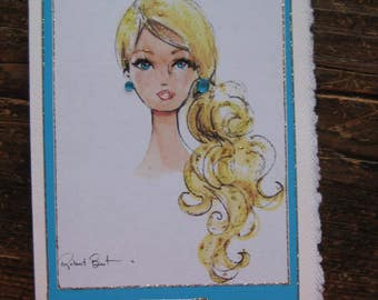 Classic Barbie Malibu Barbie note card