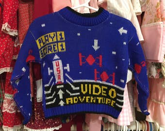 1980s Video Game Sweater 18/24 Months