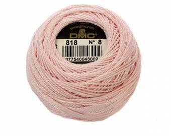 DMC Pearl / Perle Cotton Thread Balls Size 8 Baby Pink 818