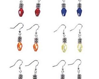 Bright Christmas Light Bulb Earrings