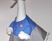"""Girl Cubs outfit for 24-26"""" yard, lawn or garden cement goose or geese"""