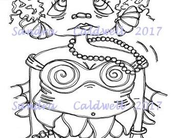 1389 Pretty and Plump Mermaid Beulah Digi Stamp