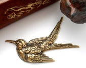Closeout ANTIQUE BRASS Large Bird Stamping Sparrow ~ Jewelry Ornamental Findings ~Brass Stamping (FA-6031)