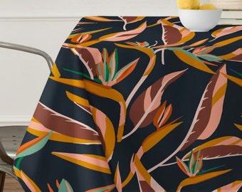 Anthology of Pattern Elle Bird of Paradise Dark Tablecloth