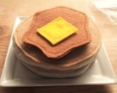 Custom listing 4  theflyingturnip - Pretend  felt food - Pancakes Syrup Butter version 2