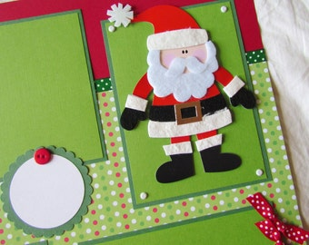 12x12 Premade Scrapbook Pages - ChRiSTmAs layout -- BELIEVE -- SaNTa - boy, girl, baby, family, Christmas Eve, favorite memories