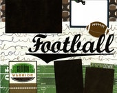 Guerrier de gril - Premade Football Scrapbook Page