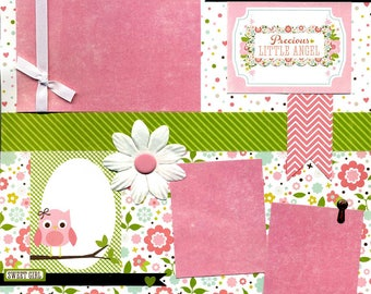 Precious Little Angel - 12x12 Premade Baby Scrapbook Page