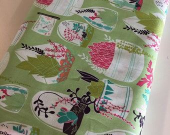 SALE fabric, Succulent decor, Succulent wedding, Discount fabric, cotton fabric by the yard, Art Gallery fabrics, Fabric Shoppe