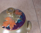 Cookie Jar with Maple Leaves - Treehugger Series