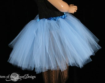 French Blue tutu tulle skirt adult petticoat dance costume roller derby race wedding bachelorette bridal party - You Choose Size - SOTMD