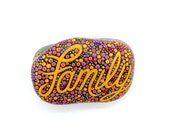 Painted Rock, Inspirational Word Family Stone, Written on Stone Series, Leslie Peery Art, Art To Have And To Hold, Mitsel8