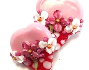 Be Mine Pink Polka Dot Hearts