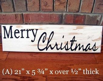 ON SaLe, Black and white, Original Folk Art, Hand painted sign, Wood, Hardwood, Merry Christmas, shabby chic, Cottage, Minimalist, Reclaimed
